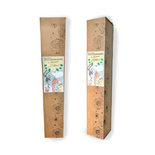 Ein tolles Geschenk zur Geburt ist das Starterpaket von Treuherz, liebevoll, regional und hochwertig.