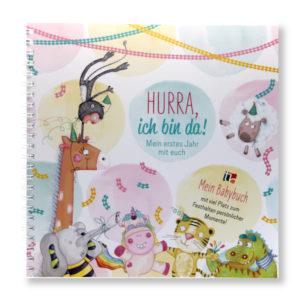 Liebevolles, personalisierbares Babyalbum als bleibendes Geschenk zur Geburt