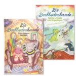 Das Bücherset besteht aus dem ersten und zweiten Band der Kinderbuchserie Die Dachbodenbande