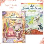 Das Buchset zur Dachbodenbande besteht aus dem ersten und zweiten Band der Kinderbuchserie