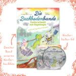 Das Fanpaket besteht aus dem zweiten Band unserer Kinderbuchserie und einer dazu passenden Kinderlieder-CD