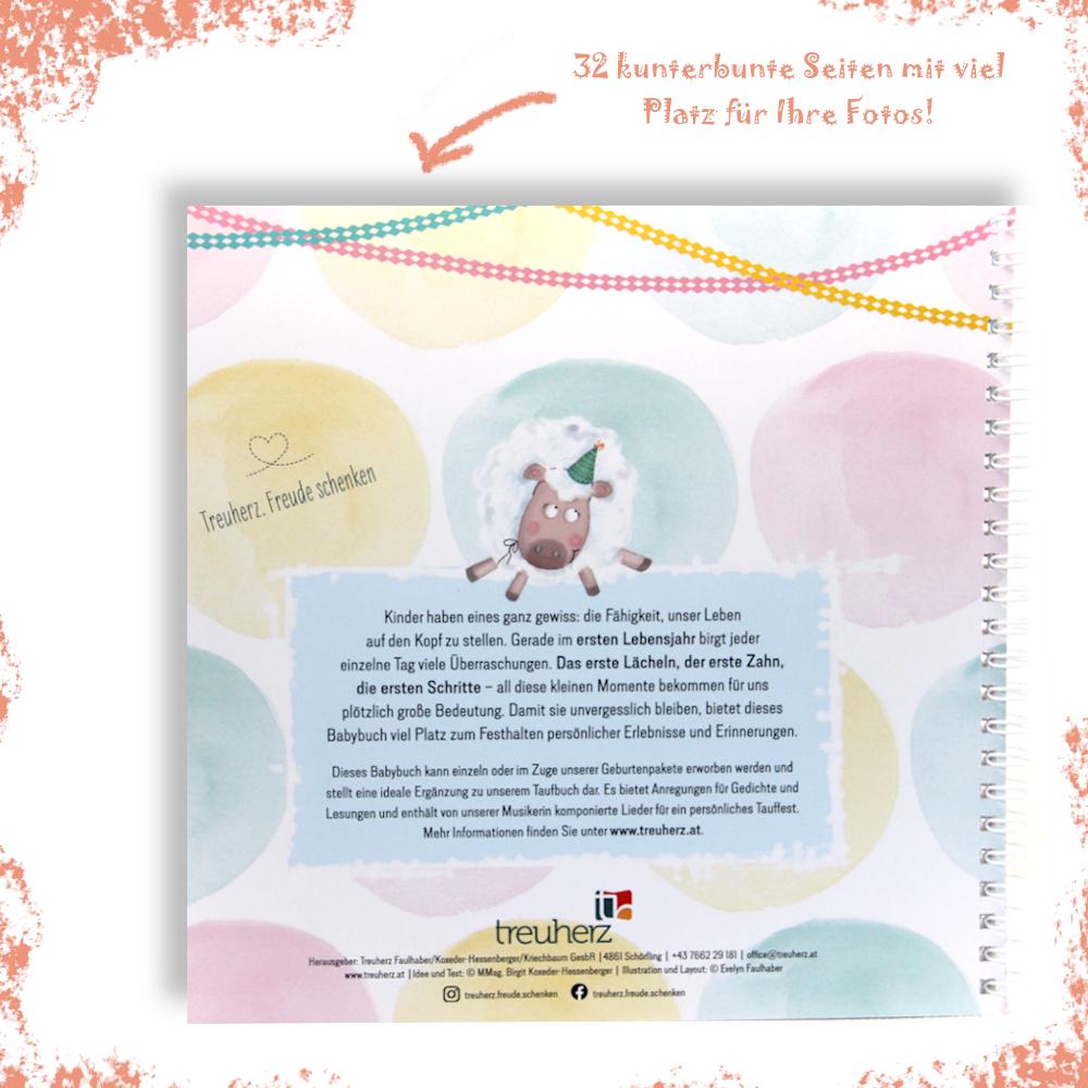 Bleibendes Geschenk zur Geburt: Das Babyalbum von Treuherz