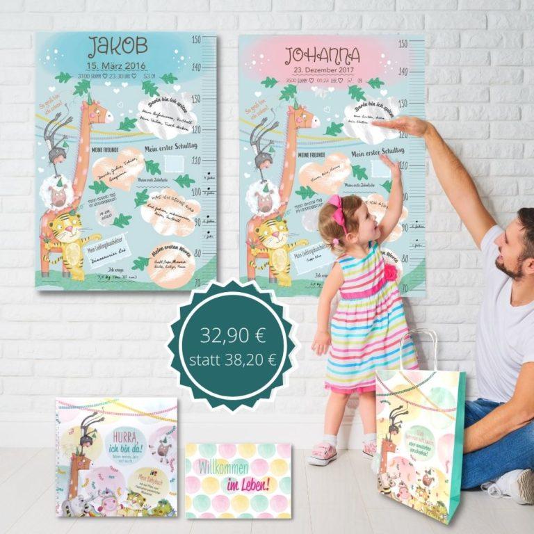 Ein personalisierbares Geschenk zur Geburt von Treuherz: nser Babypaket ist ein sinnvolles, kreatives und regionales Geburtenpaket