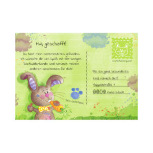 Diese wunderschöne Grußkarte für Ostern darf in keinem Nest fehlen. Die handgemachten Illustrationen sind besonders liebevoll und kindgerecht.