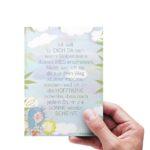 Glückwunschkarte zur Taufe mit süßem Schutzengel von Treuherz